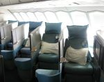 You have to love the seats on Cathay Pacific Airlines in business class